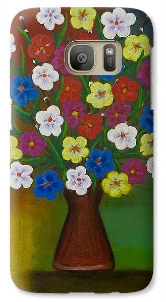 Brilliant Bouquet Galaxy S7 Case by Teresa Wing