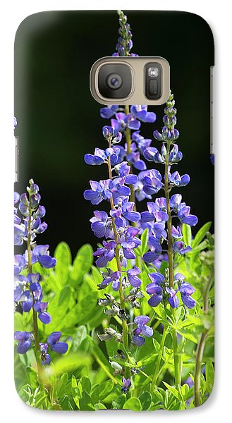 Galaxy Case featuring the photograph Brilliant Lupines by Elvira Butler