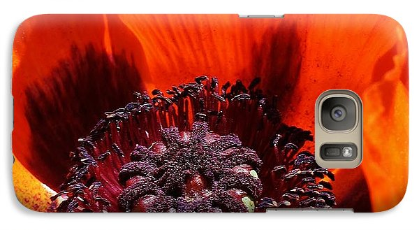 Galaxy Case featuring the photograph Brilliant Poppy by Bruce Bley