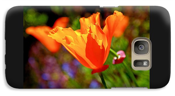 Galaxy Case featuring the photograph Brilliant Spring Poppies by Rona Black