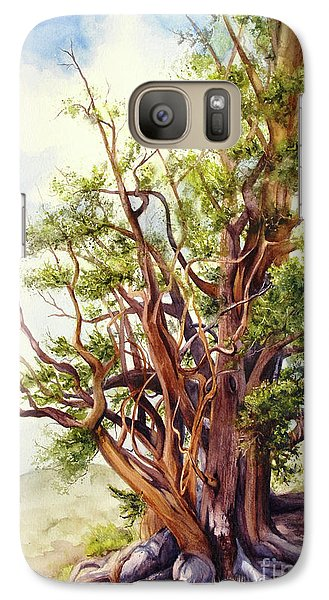 Galaxy Case featuring the painting Bristle Cone Pine by Bonnie Rinier
