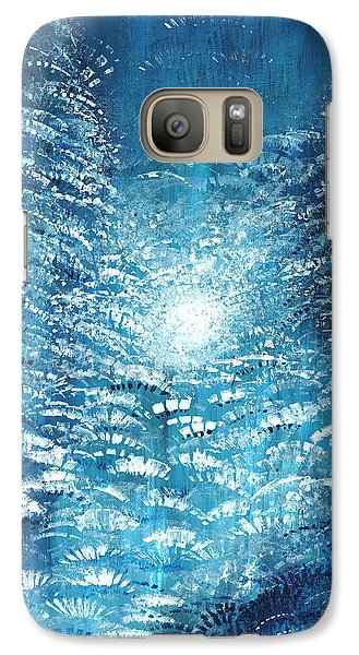 Galaxy Case featuring the painting Brite Nite by Holly Carmichael