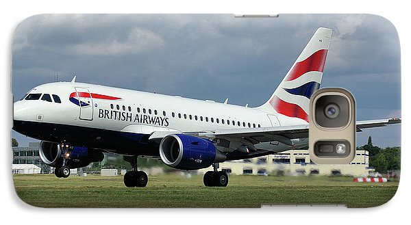Galaxy Case featuring the photograph British Airways A318-112 G-eunb by Tim Beach