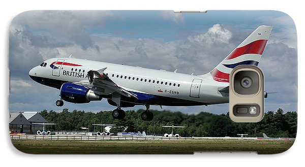 Galaxy Case featuring the photograph British Airways Airbus A318-112 G-eunb by Tim Beach