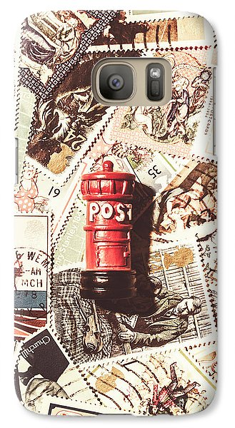 Galaxy Case featuring the photograph British Post Box by Jorgo Photography - Wall Art Gallery