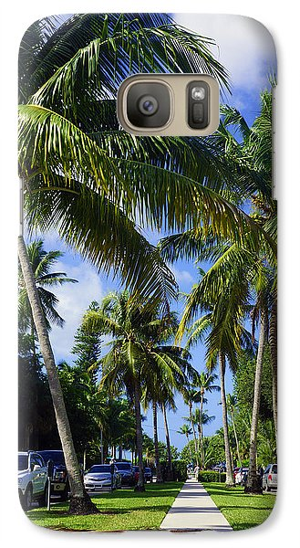 Galaxy Case featuring the photograph Broad Avenue South, Old Naples by Robb Stan