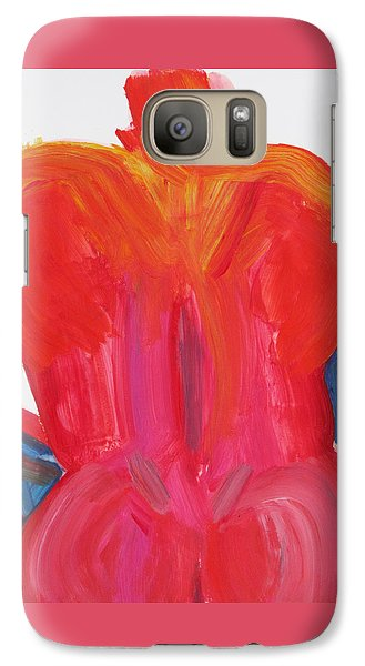 Galaxy Case featuring the painting Broad Back Red by Shungaboy X