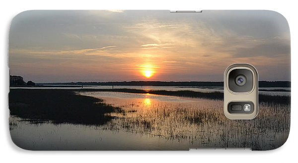 Galaxy Case featuring the photograph Broad Creek Sunset by Carol  Bradley