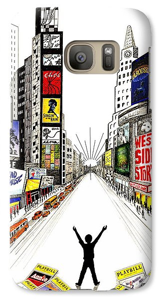 Galaxy Case featuring the drawing Broadway Dreamin' by Marilyn Smith