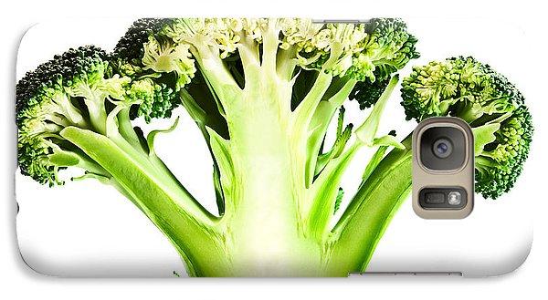 Broccoli Cutaway On White Galaxy Case by Johan Swanepoel