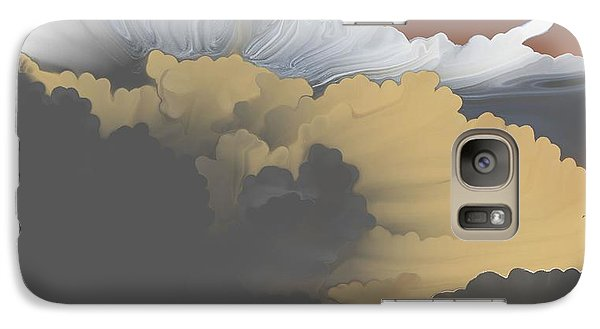 Galaxy Case featuring the digital art Brokeback Hills by Kerry Beverly