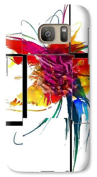 Galaxy Case featuring the digital art Broken Pattern By Nico Bielow by Nico Bielow