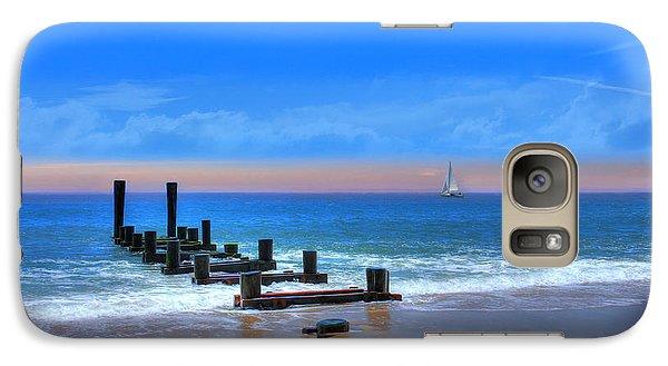 Galaxy Case featuring the digital art Broken Pier by Sharon Batdorf