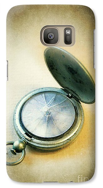 Galaxy Case featuring the photograph Broken Pocket Watch by Jill Battaglia