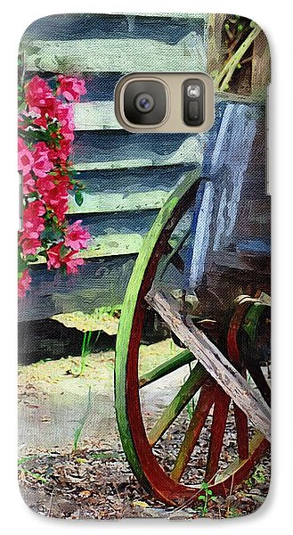 Galaxy Case featuring the photograph Broken Wagon by Donna Bentley