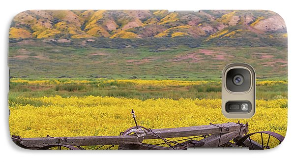 Galaxy Case featuring the photograph Broken Wagon In A Field Of Flowers by Marc Crumpler