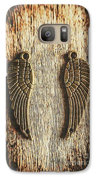 Bronze Angel Wings Galaxy S7 Case
