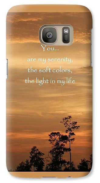 Galaxy Case featuring the photograph Bronzed Sunset Quote by Ellen O'Reilly