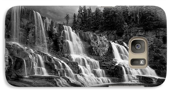 Galaxy S7 Case featuring the photograph Brooding Gooseberry Falls by Rikk Flohr