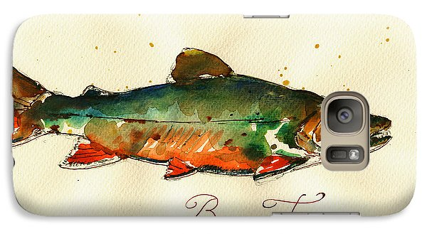 Trout Galaxy S7 Case - Brook Trout Art by Juan  Bosco