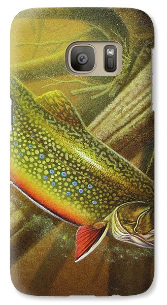 Trout Galaxy S7 Case - Brook Trout Cover by JQ Licensing