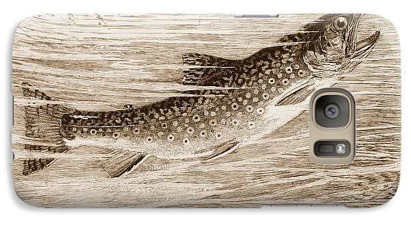 Galaxy Case featuring the photograph Brook Trout Going After A Fly by John Stephens