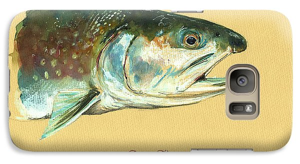 Trout Galaxy S7 Case - Brook Trout Watercolor by Juan  Bosco