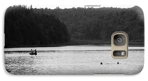 Galaxy Case featuring the photograph Brookfield, Vt - Swimming Hole 2006 Bw by Frank Romeo
