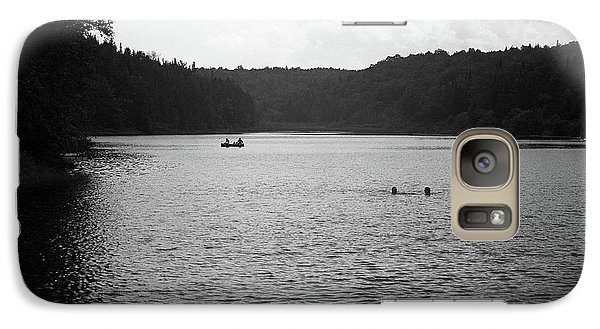 Galaxy Case featuring the photograph Brookfield, Vt - Swimming Hole Bw 2 by Frank Romeo