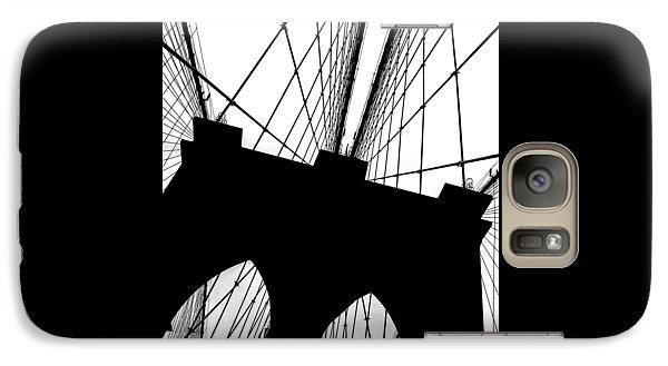 Brooklyn Bridge Galaxy S7 Case - Brooklyn Bridge Architectural View by Az Jackson