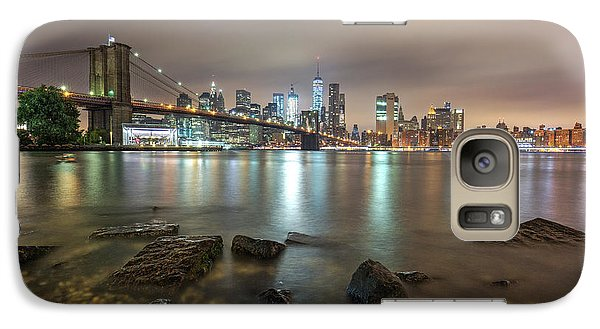 Galaxy Case featuring the photograph Brooklyn Bridge At Sunrise  by Emmanuel Panagiotakis