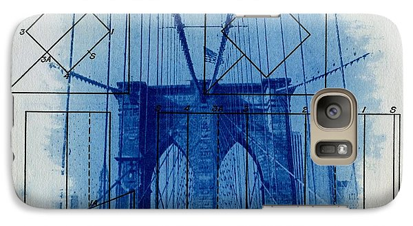 Central Park Galaxy S7 Case - Brooklyn Bridge by Jane Linders