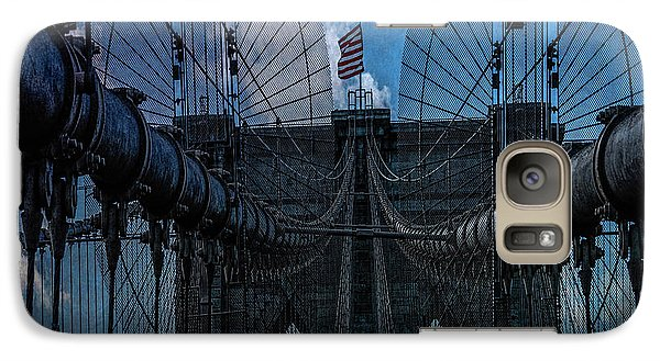 Galaxy Case featuring the photograph Brooklyn Bridge Webs by Chris Lord