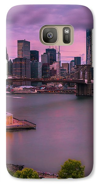 Galaxy Case featuring the photograph Brooklyn Bridge World Trade Center In New York City by Ranjay Mitra