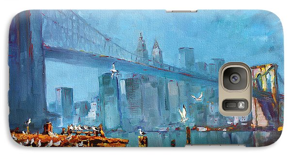 Brooklyn Bridge Galaxy Case by Ylli Haruni