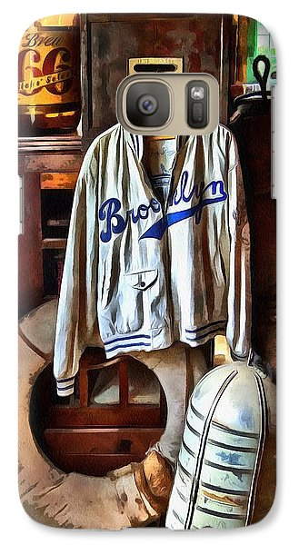 Galaxy Case featuring the photograph Brooklyn Dodgers Baseball  by Thom Zehrfeld