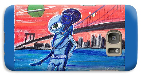 Galaxy Case featuring the painting Brooklyn Play Date by Similar Alien