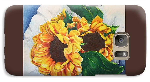 Galaxy Case featuring the painting Brooklyn Sun by Angela Armano