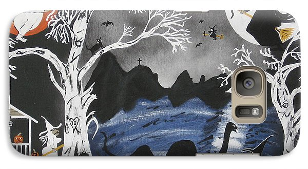 Galaxy Case featuring the painting Broom Express by Jeffrey Koss