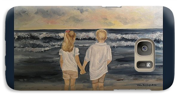 Galaxy Case featuring the painting Brother And Sister by Julie Brugh Riffey