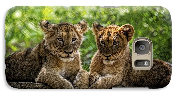 Galaxy Case featuring the photograph Brothers Chillin by Cheri McEachin