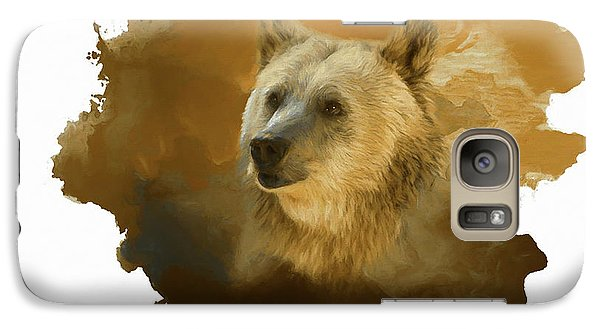 Galaxy Case featuring the painting Brown Bear by Steven Richardson