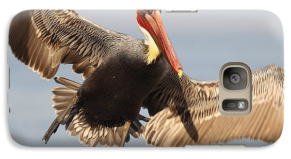 Galaxy Case featuring the photograph Brown Pelican Putting On The Brakes by Max Allen