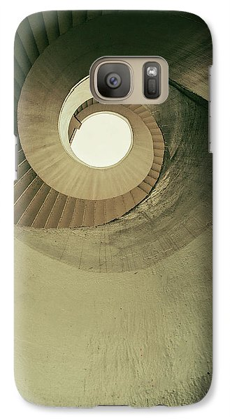 Galaxy Case featuring the photograph Brown Spiral Stairs by Jaroslaw Blaminsky