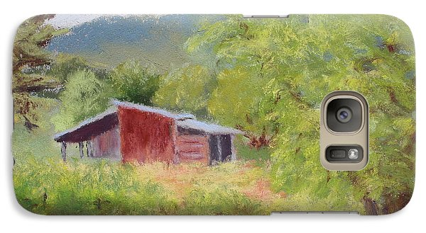 Galaxy Case featuring the painting Brown's Shed by Nancy Jolley