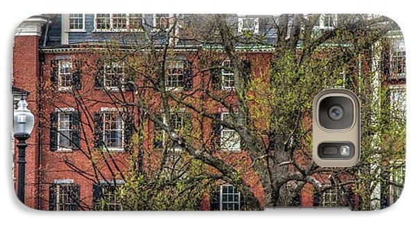 Galaxy Case featuring the photograph Brownstone Panoramic - Beacon Street Boston by Joann Vitali