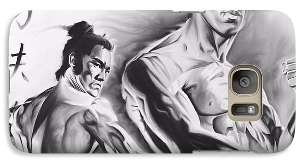 Galaxy Case featuring the painting Bruce Lee by Darryl Matthews