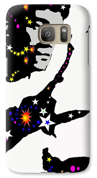 Galaxy Case featuring the drawing Bruce Lee Moving His Hands by Robert Margetts