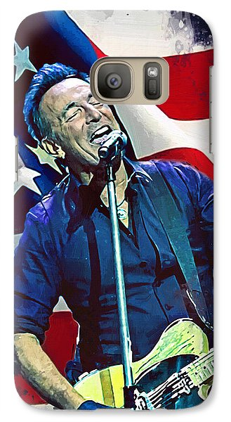 Bruce Springsteen Galaxy S7 Case - Bruce Springsteen by Afterdarkness