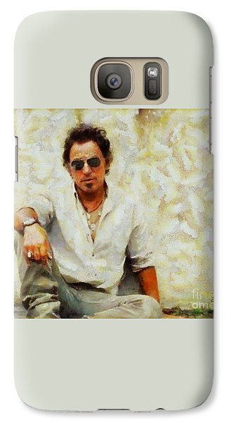 Galaxy Case featuring the painting Bruce Springsteen by Elizabeth Coats